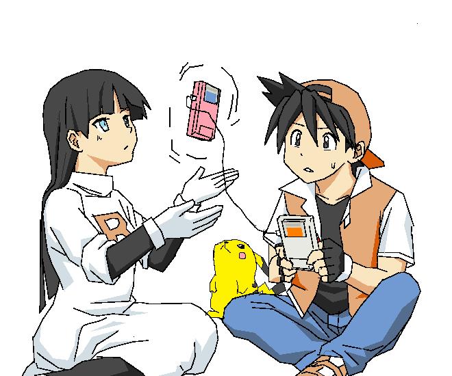natsume, pika, pikachu, and red (pokemon and pokemon special) drawn by masukishi