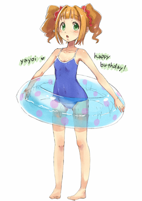 takatsuki yayoi (idolmaster and idolmaster (classic)) drawn by tanaka (colorcorn)
