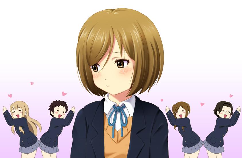 kinoshita shizuka, kotobuki tsumugi, okada haruna, sano keiko, and shima chizuru (k-on!) drawn by shian (my lonly life.)