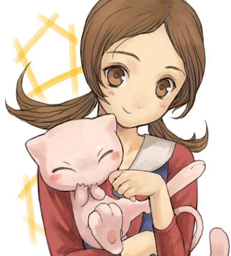 kotone and mew (pokemon, pokemon (game), and pokemon hgss) drawn by horey