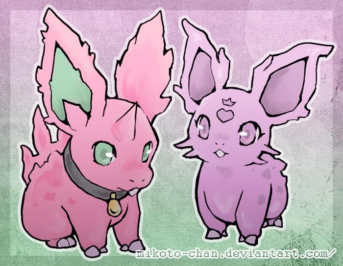 nidoran (pokemon) drawn by mikoto-tsuki