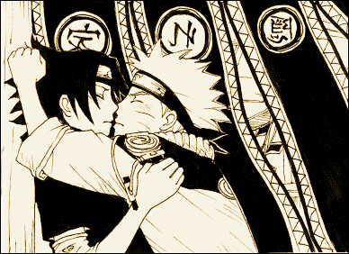 uchiha sasuke and uzumaki naruto (naruto) drawn by 10rankai