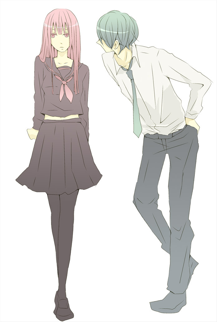 kaito and megurine luka (dokukinoko (vocaloid) and vocaloid) drawn by caprico
