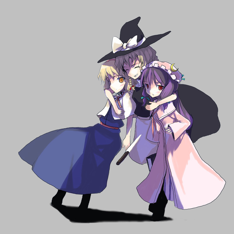 alice margatroid, kirisame marisa, and patchouli knowledge (touhou) drawn by obscur