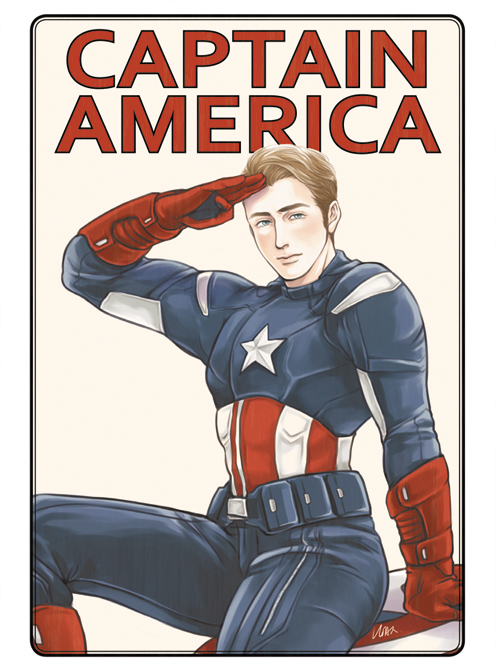 captain america and steve rogers (avengers and marvel) drawn by hoax1918