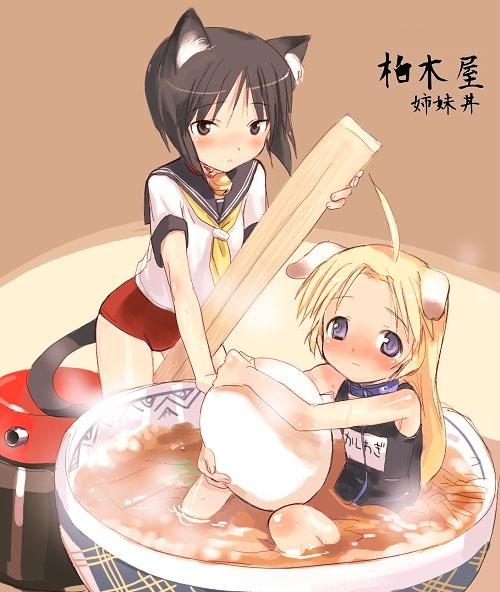 kashiwagi hatsune and kashiwagi kaede (kizuato) drawn by shimada fumikane