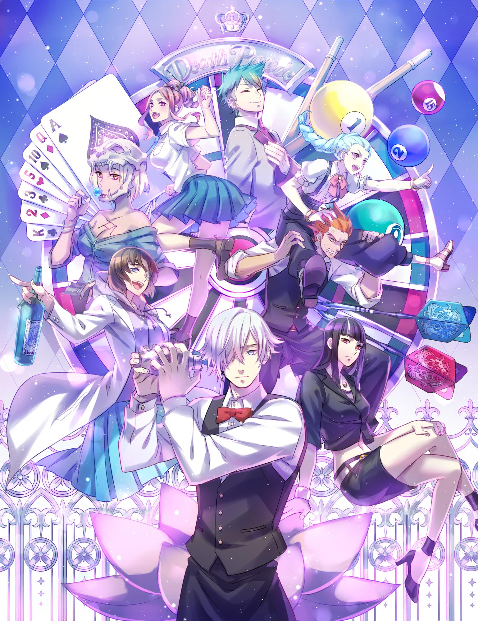 Kurokami No Onna Nona Decim Ginti Castra And 3 More Death Parade Drawn By Zoff Daria Danbooru