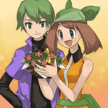 haruka and shuu (pokemon, pokemon (anime), pokemon ag, and pokemon dp (anime)) drawn by pinkish