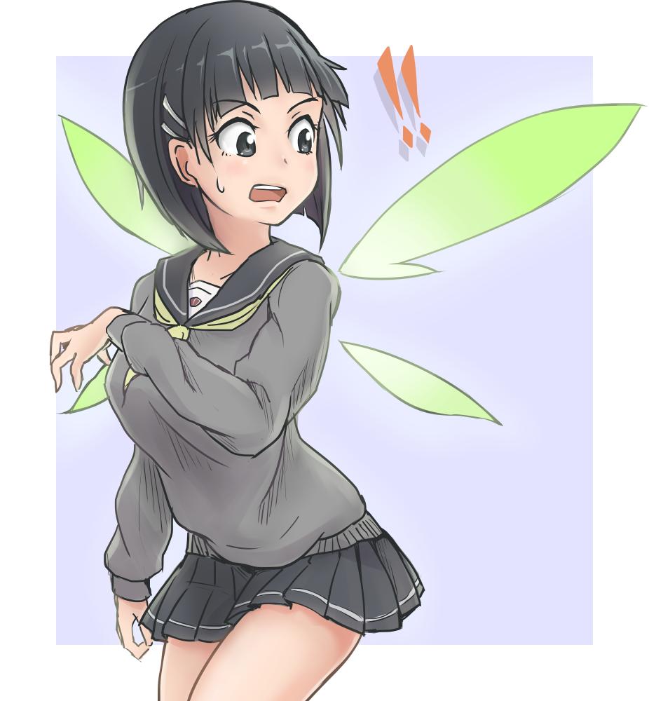 kirigaya suguha (sword art online) drawn by ebiblue - Danbooru