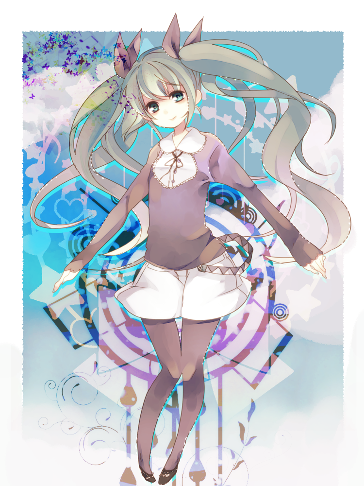 hatsune miku (vocaloid) drawn by hall jion