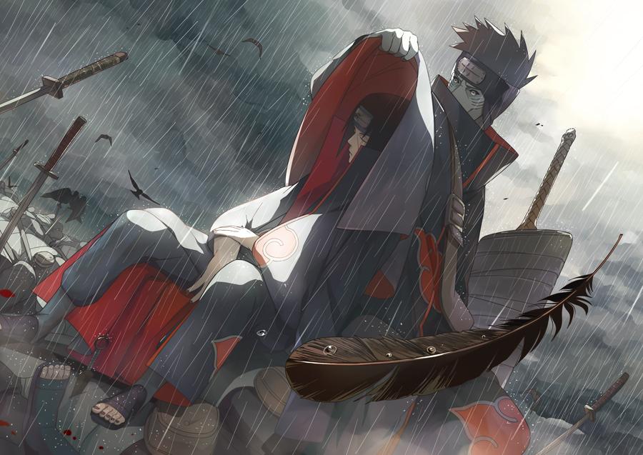 Uchiha Itachi And Hoshigaki Kisame Naruto And 2 More Drawn By Oba Min Danbooru