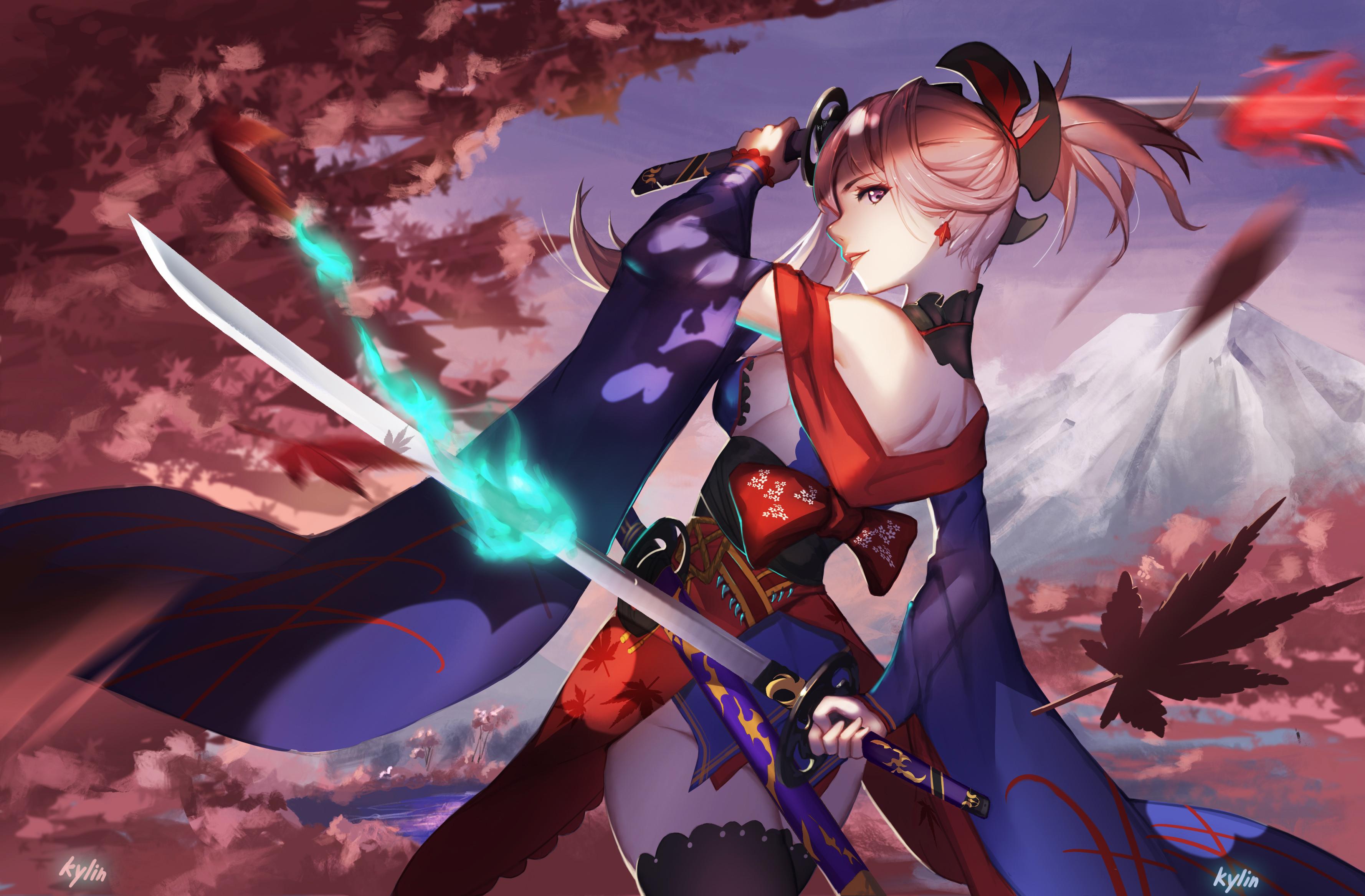 [F] Wicca Izanami __miyamoto_musashi_fate_grand_order_and_etc_drawn_by_yun_lin__252d81176c9d9dec1990bc1b88169f06