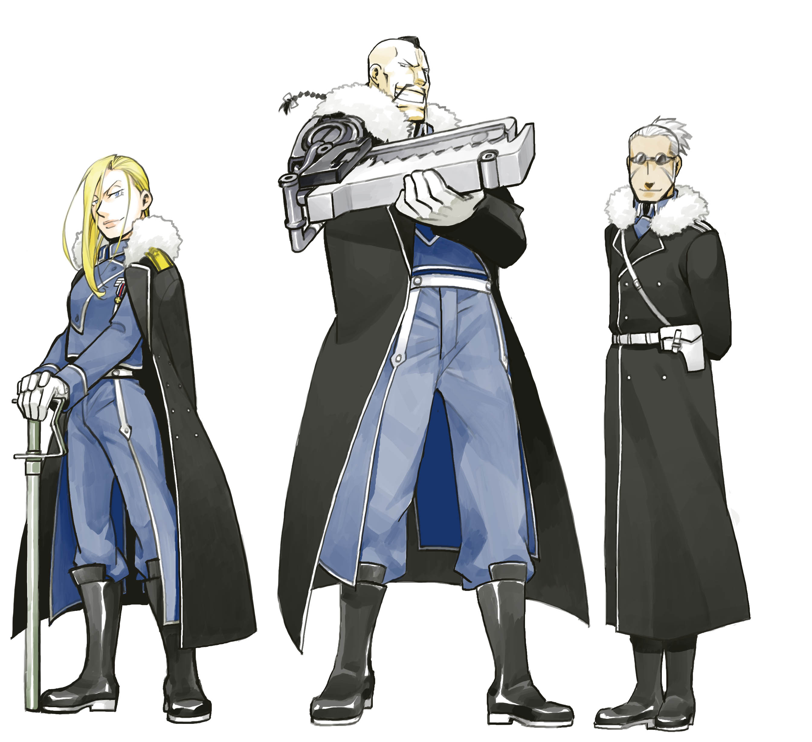 Buccaneer, Miles, And Olivier Mira Armstrong (fullmetal