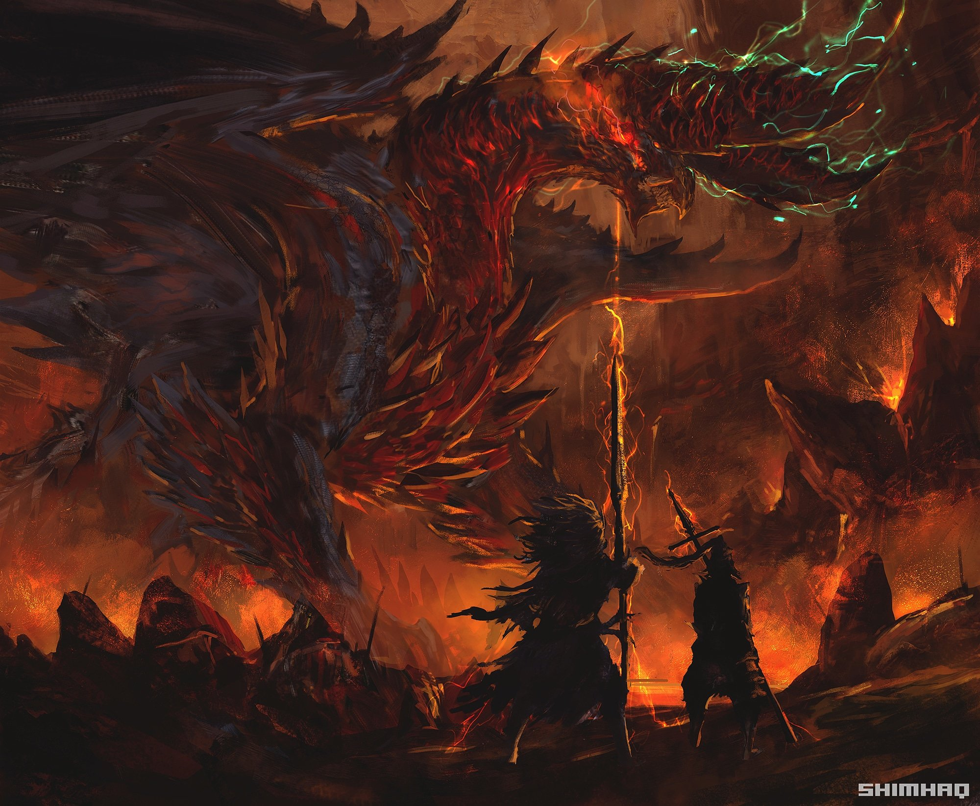 Dragon Slayer Ornstein Alatreon And Nameless King Monster