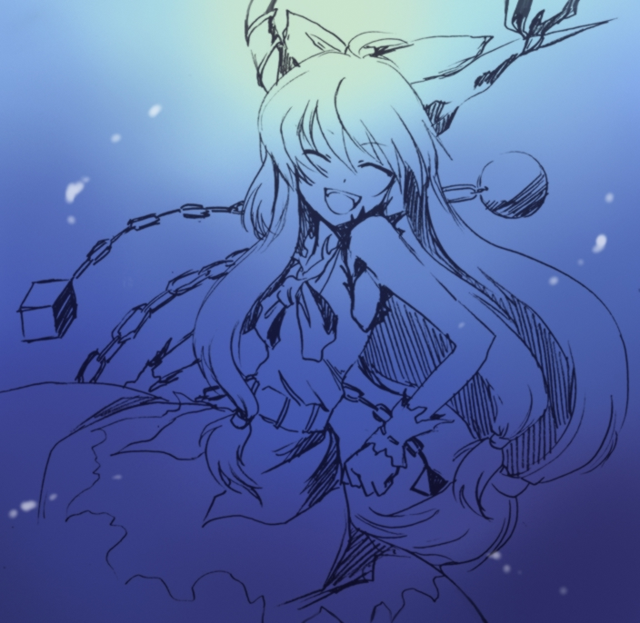 ibuki suika (touhou) drawn by onimaru gonpei