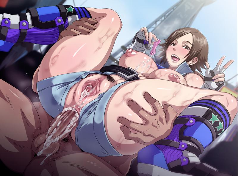 Hentai riding anal creampie