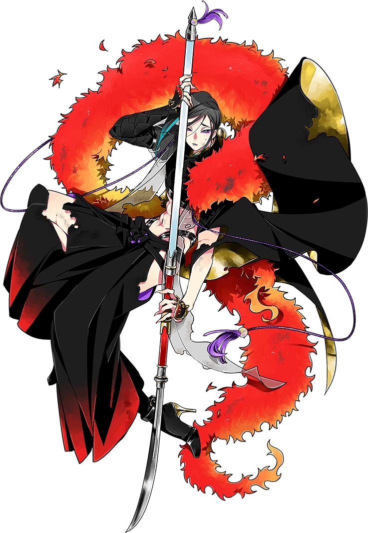 shizukagata naginata (touken ranbu) drawn by kinako (marubotan)