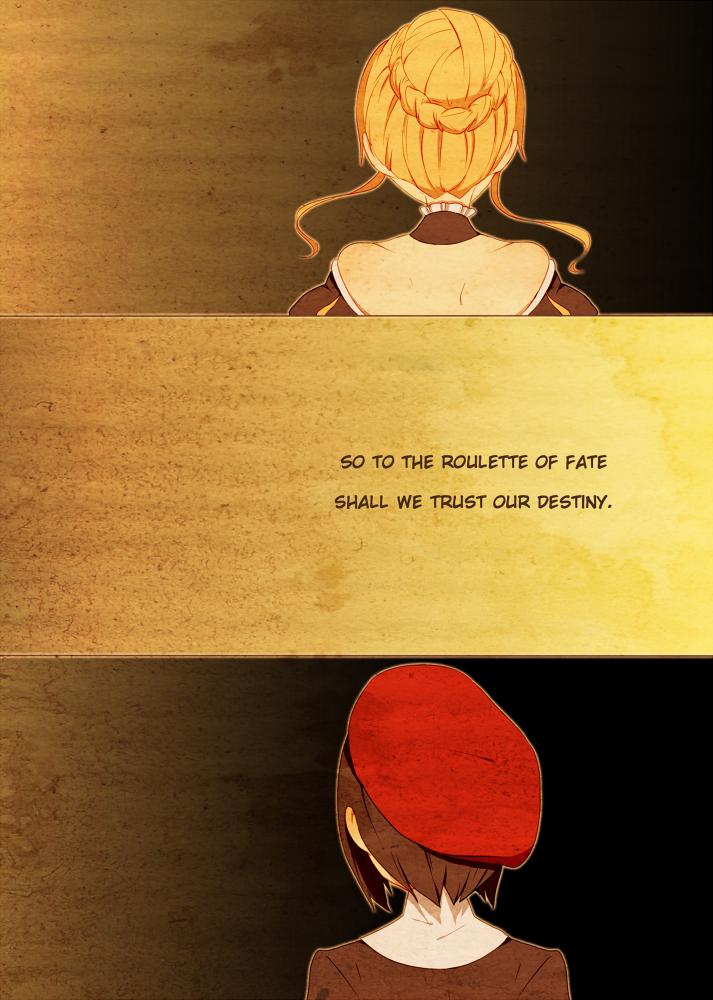 beatrice and kanon (umineko no naku koro ni) drawn by ai-wa