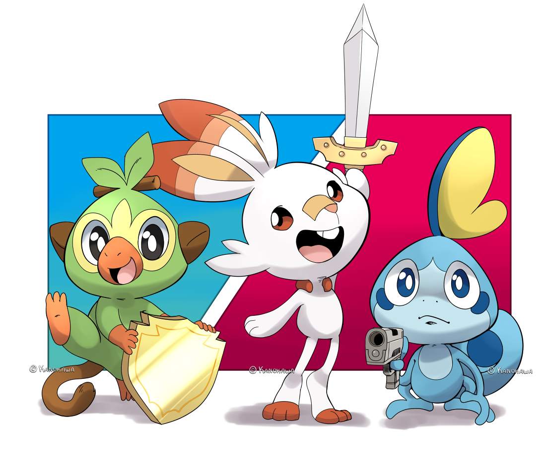 Scorbunny Sobble And Grookey Pokemon Drawn By Kanokawa Danbooru Grookey will have two other evolved forms, but those are not revealed, as of march 2019. sobble and grookey pokemon drawn