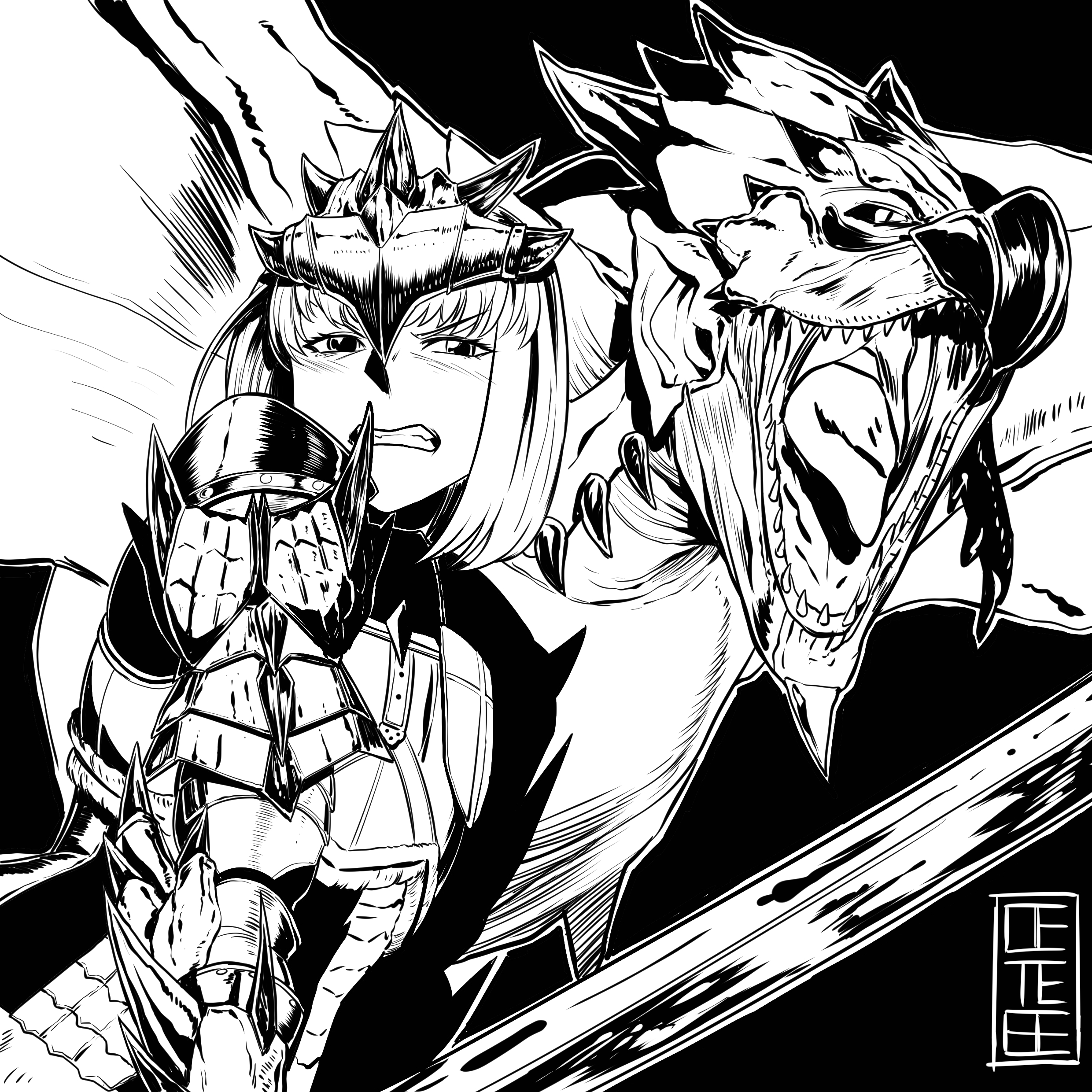 Rathalos And Rathalos Monster Hunter And 1 More Drawn By Cete
