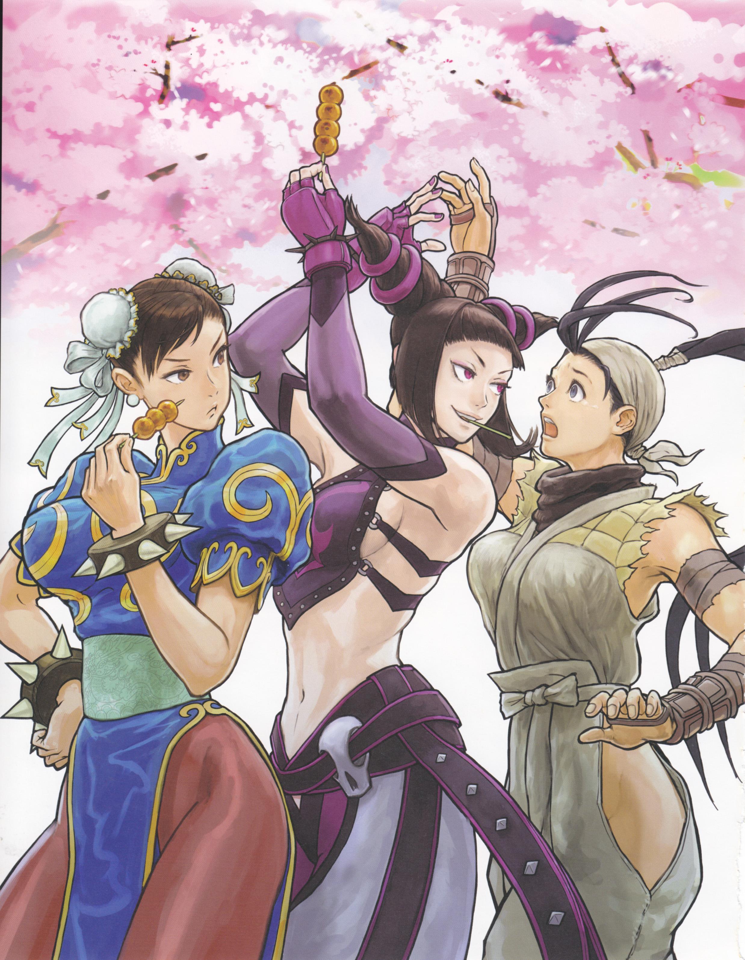 Chun Li Han Juri And Ibuki Street Fighter And 1 More Drawn By