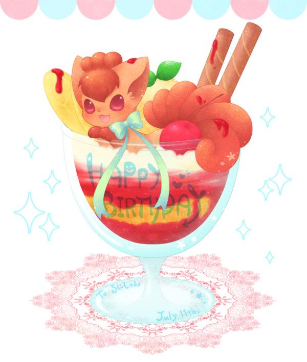 vulpix (pokemon) drawn by ten'on (amane09)