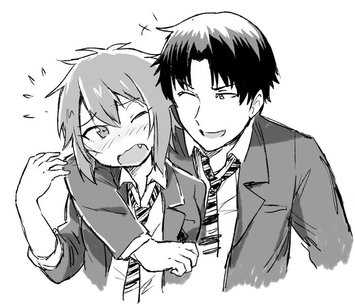 Aizawa Tomo And Kubota Junichirou Tomo Chan Wa Onna No Ko Drawn By Samnedar Danbooru