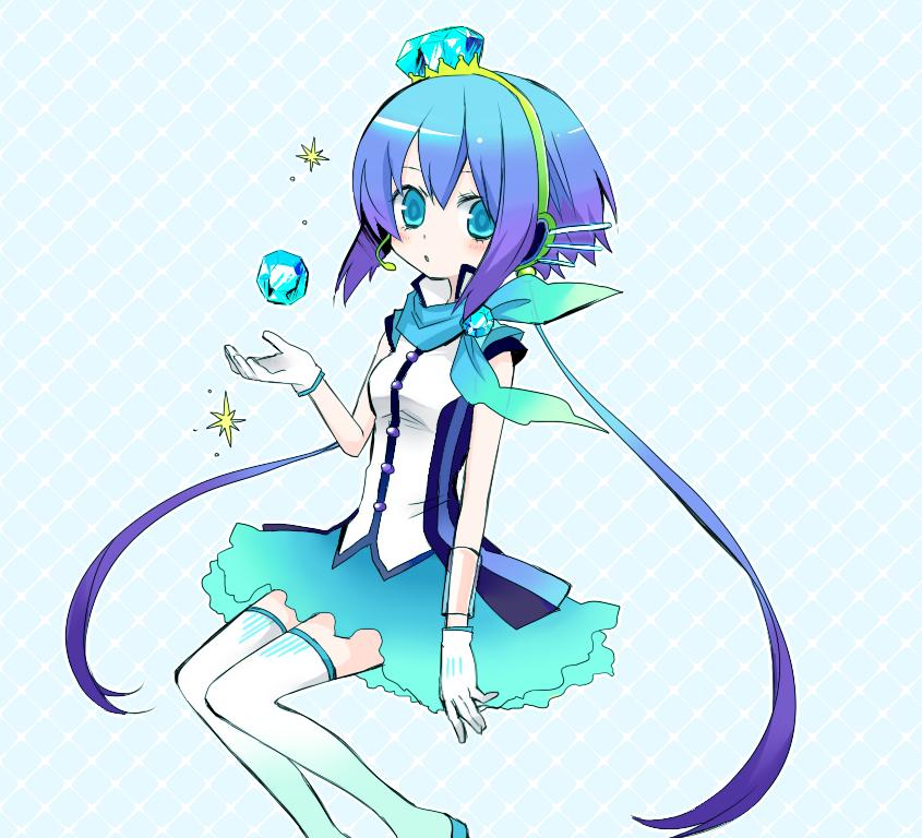 aoki lapis (vocaloid) drawn by niboshi