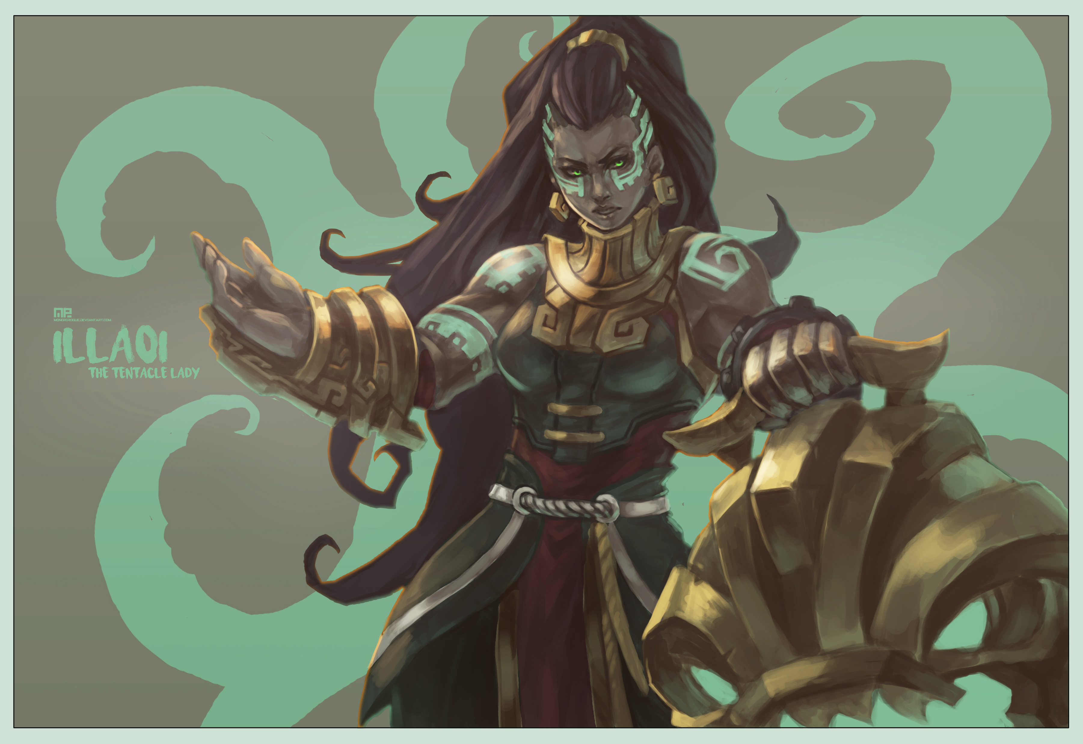 illaoi league of legends drawn by monori rogue danbooru