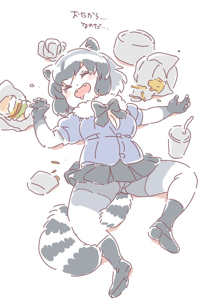 common raccoon (kemono friends) drawn by mitsumoto jouji