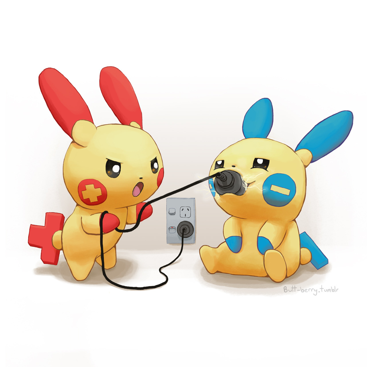 Plusle And Minun Pokemon Drawn By Mcgmark Danbooru