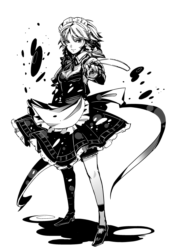 izayoi sakuya (touhou) drawn by hounori