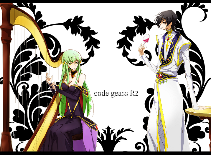 c.c. and lelouch lamperouge (code geass) drawn by c (rahit)