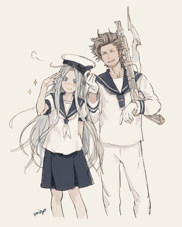 lyria and rackam (granblue fantasy) drawn by yoisho (yoisyoisyo)