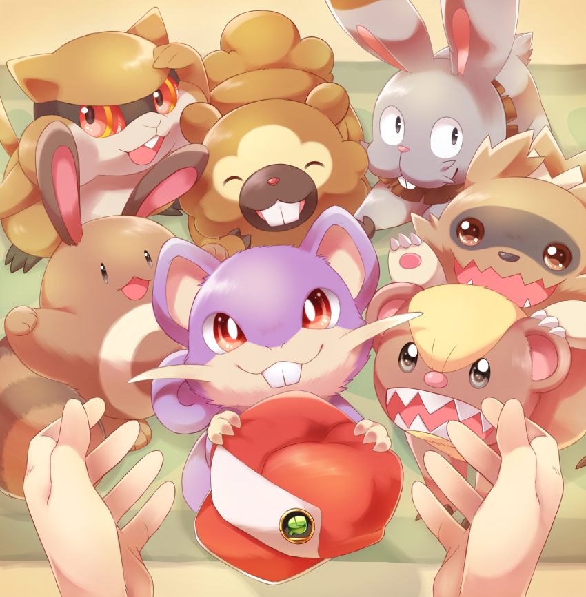 bidoof, bunnelby, patrat, red, red, and others (pokemon, pokemon (game), pokemon bw, pokemon dppt, pokemon gsc, and others) drawn by ebisaki