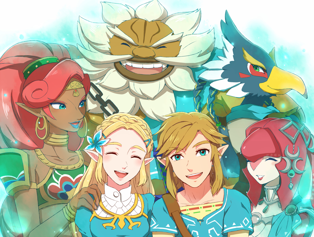 Daruk, Link, Mipha, Princess Zelda, Revali, And Others