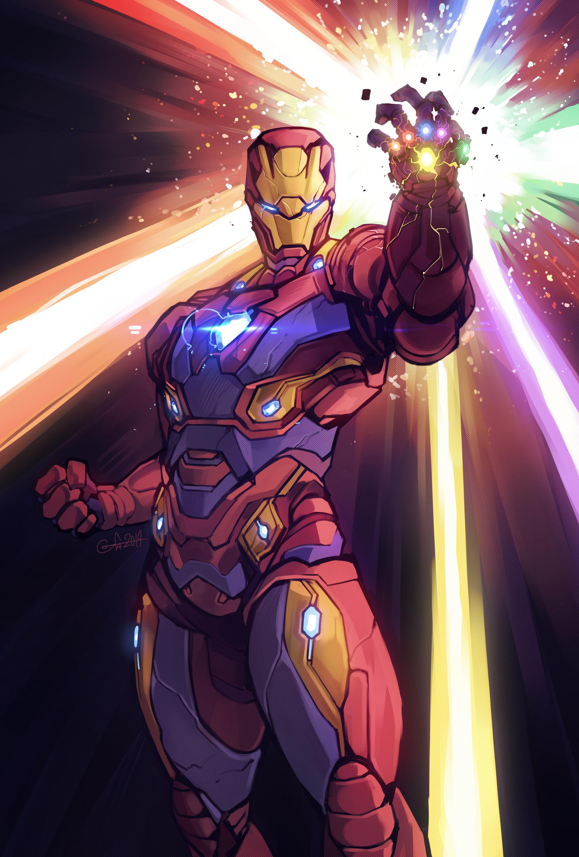 Iron Man Endgame Armor Drawing