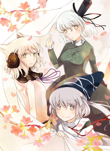 mononobe no futo, soga no tojiko, and toyosatomimi no miko (touhou) drawn by atoki