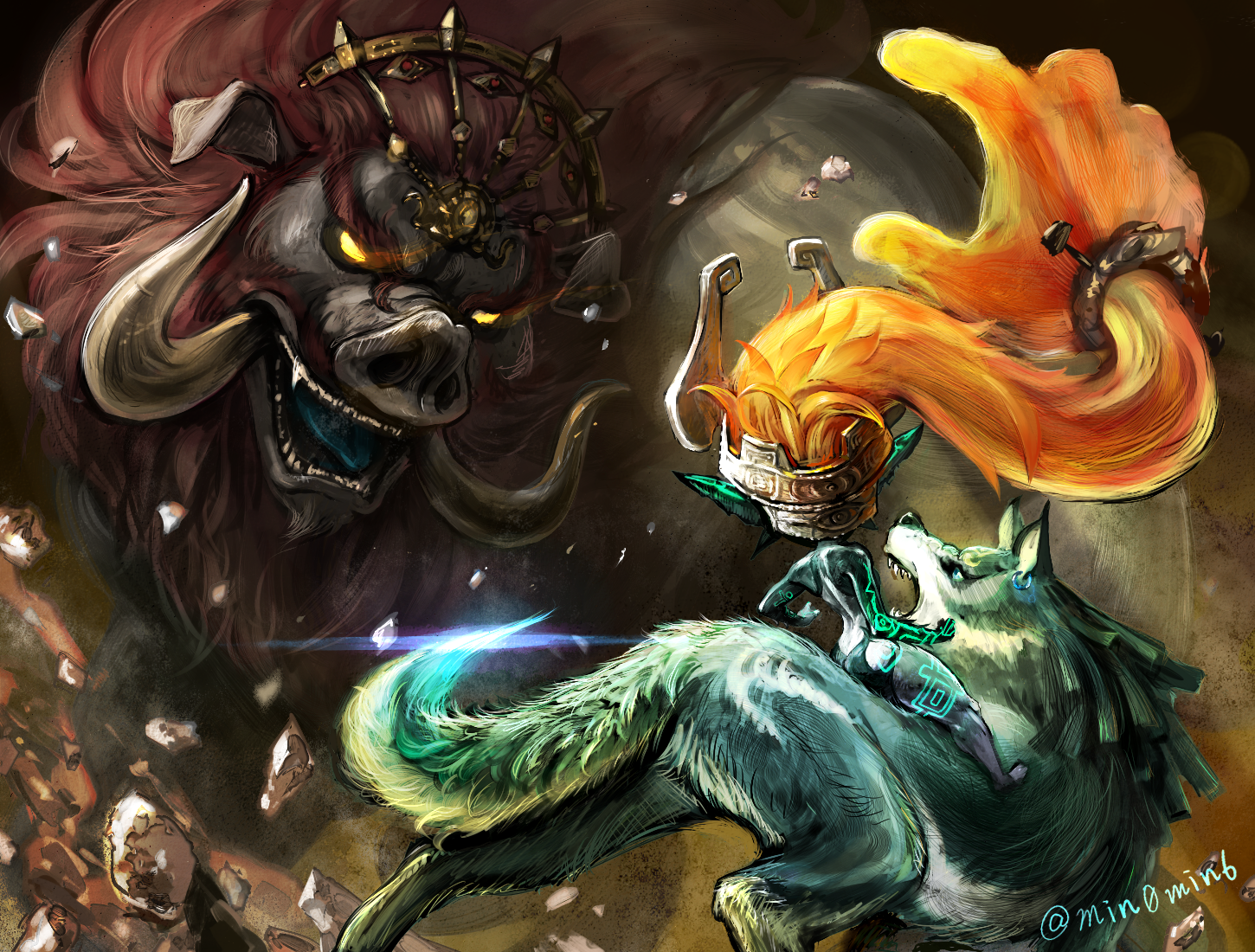 Link Midna Link And Ganon The Legend Of Zelda And 1 More