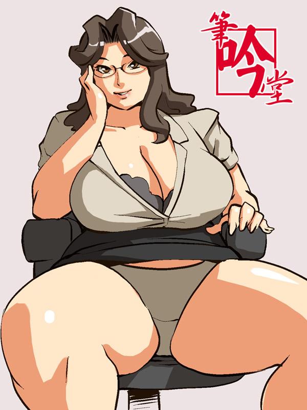 Anime Porn Fat Thighs - original drawn by doomcomic