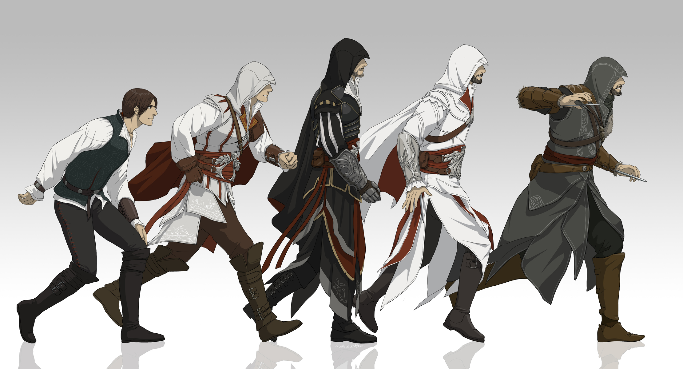 Ezio Auditore Da Firenze Assassin S Creed And 3 More Drawn By Gb