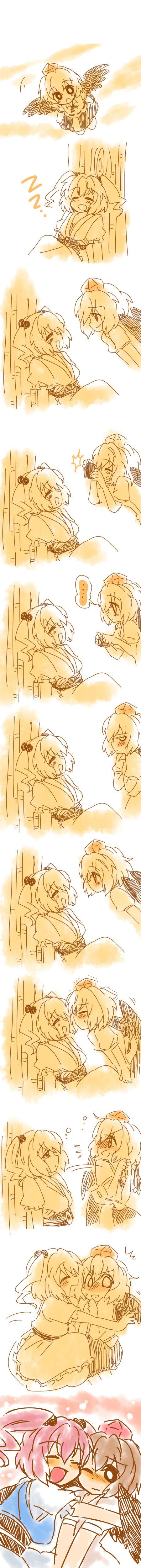onozuka komachi and shameimaru aya (touhou) drawn by eromame