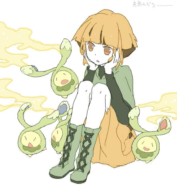 budew and natane (pokemon, pokemon (game), and pokemon dppt) drawn by shouji ni nanshi