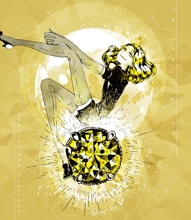 yellow diamond (houseki no kuni) drawn by eri na