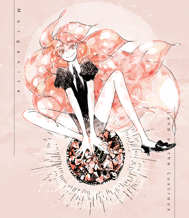 morganite (houseki no kuni) drawn by eri na