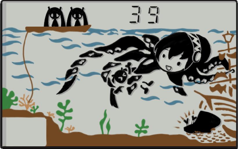hatsune miku, megurine luka, and takoluka (octopus (game & watch) and etc) drawn by opapyon