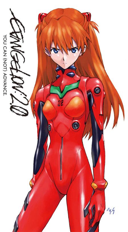 shikinami asuka langley and souryuu asuka langley (evangelion: 2.0 you can (not) advance and etc) drawn by sadamoto yoshiyuki