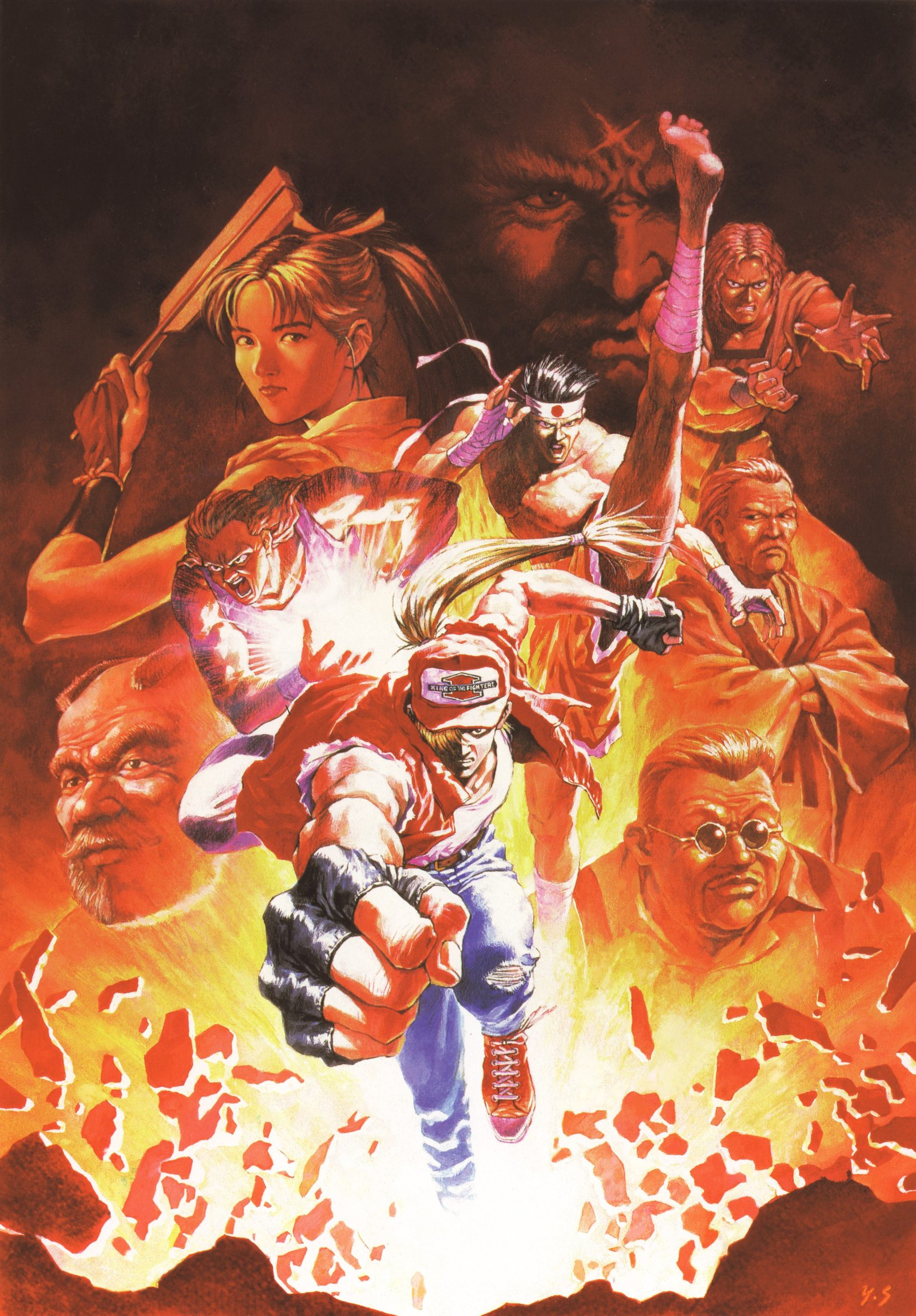 shiranui mai terry bogard andy bogard joe higashi kim kaphwan and 4 more fatal fury and 1 more drawn by sadamoto yoshiyuki danbooru shiranui mai terry bogard andy bogard