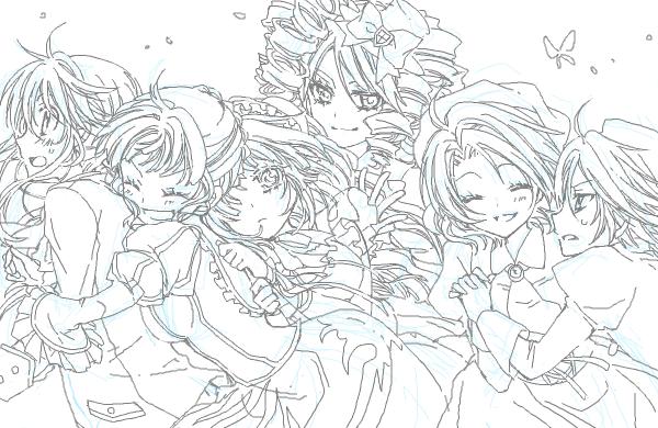 beatrice, clair vaux bernardus, gaap, kanon, shannon, and others (umineko no naku koro ni) drawn by minorikoike