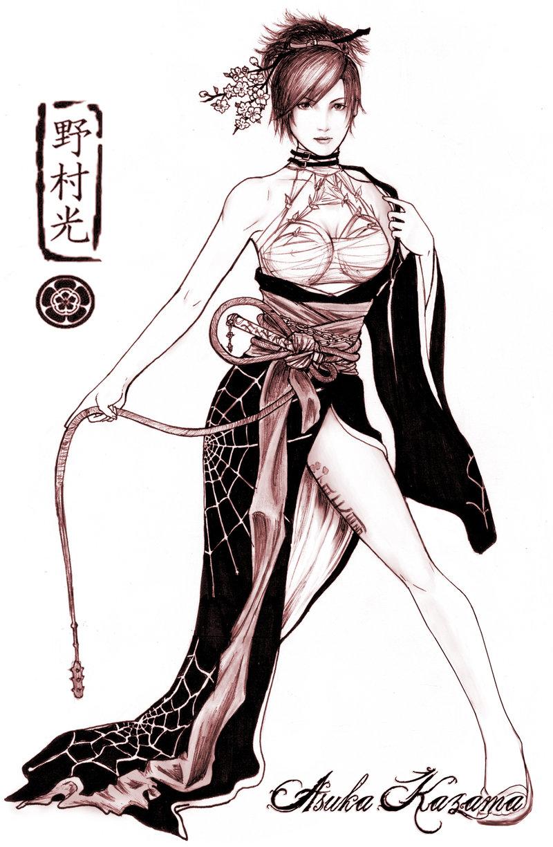 kazama asuka (tekken and tekken 5) drawn by hikaru-ryuuen